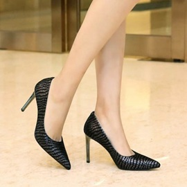 Snake Skin Printed Pointed Toe Pumps