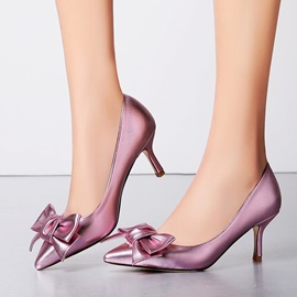 Elegant Bowknots Low-Heel Pumps