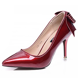 Patent Leather Slip-On Stilettos for Women
