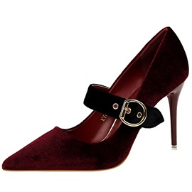 Professional Sude Buckle Pointed Toe Women's Pumps