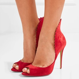 Peep Toe High-Cut Upper Pumps