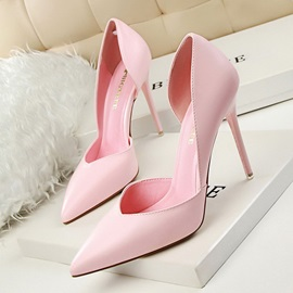 PU Slip-On Pointed Toe Stiletto Banquet Shoes