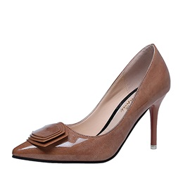 Patent Leather Pointed Toe Slip-On Women's Pumps