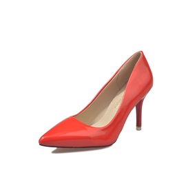 PU Slip-On Pointed Toe Women's Classic Pumps