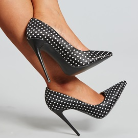 Satin Lace Pointed Toe Plaid Prom Shoes