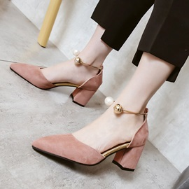 Pointed Toe Chunky Heel Women's Sandals