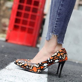 Color Block Slip-On Pointed Toe Stiletto Heel Pumps