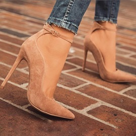 Faux Suede Pointed Toe Stiletto Heel Women's Classic Pumps
