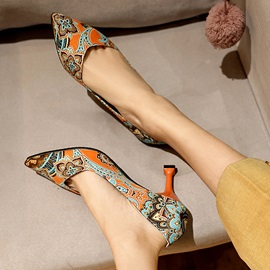 Pointed Toe Slip-On Vintage Pumps