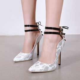 Pointed Toe Rivet Stiletto Heel Sexy Pumps