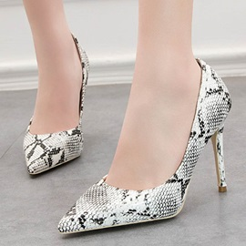 Pointed Toe Slip-On Serpentine Casual Women's Pumps