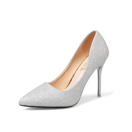 Slip-On Pointed Toe Stiletto Heel Glitter Women's Pumps