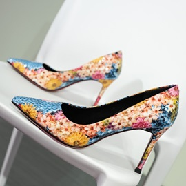 Color Block Pointed Toe Stiletto Heel Women's Pumps