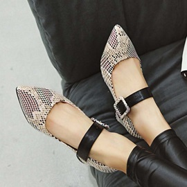 Pointed Toe Animal Print Women's Pumps