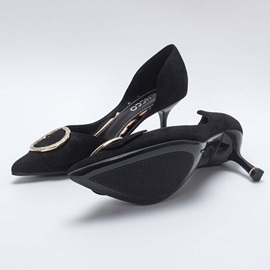 Pointed Toe Slip-On Stiletto Heel Casual Pumps