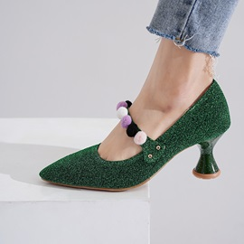 Appliques Slip-On Pointed Toe Sweet Banquet Pumps