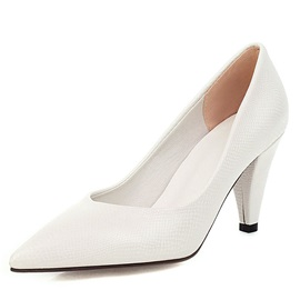 Thread Pointed Toe Slip-On Pumps