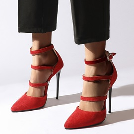 Stiletto Heel Heel Covering Pointed Toe Hollow Sandals