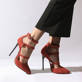 Buckle Pointed Toe 12cm Thin Shoes