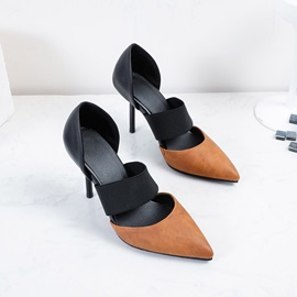 Pointed Toe Slip-On Stiletto Heel Professional Thin Shoes