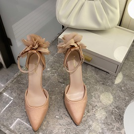 Stiletto Heel Hollow Buckle Western Thin Shoes