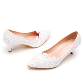 Appliques Slip-On Pointed Toe Plain Thin Shoes