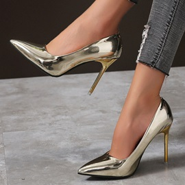 Slip-On Stiletto Heel Pointed Toe Western Thin Shoes