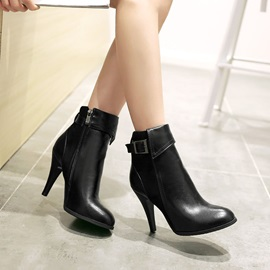 Pointed Toe PU Women's Booties