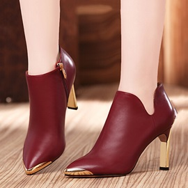 Sequins Pointed Toe Zippered Ankle Boots