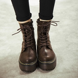 British Lace-Up Martin Boots