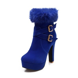 Purfle Buckles Side-Zip Booties