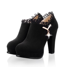 Buy Purfle Chunky Heel Ankle Boots