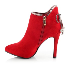 Suede Bowknots Stiletto Heel Zippered Ankle Boots