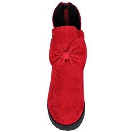 Cosy Suede Bowknots Embellished Booties