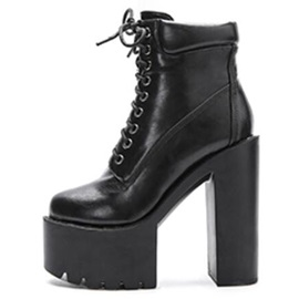 Lugz Sole High Heel Lace-Up Booties