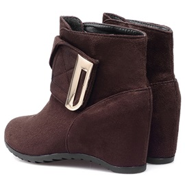 Nubuck Leather Velcro Thread Round Toe Ankle Boots