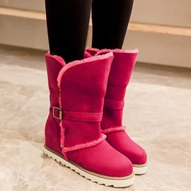Suede Slip-On Rivet Slip-On Women's Snow Boots