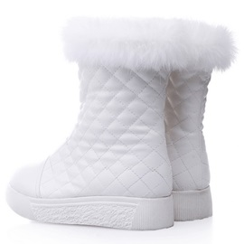 PU Side Zipper Flat Snow Boots for Women