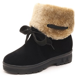 PU Lace-Up Front Purfle Women's Cheap Snow Boots