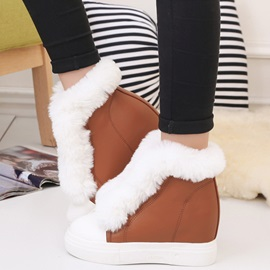PU Slip-On Platform Thread Women's Winter Boots