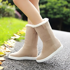 Faux Suede Slip-On Warm Women's Winter Boots