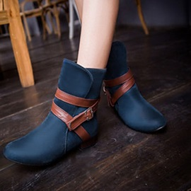 Round Toe Block Heel Slip-On Women's Boots