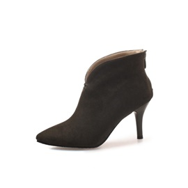 Pointed Toe Stiletto Heel Back Zip Women's Ankle Boots