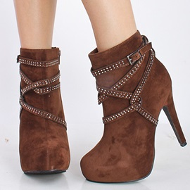 Stiletto Heel Side Zipper Pointed Toe Customized Boots