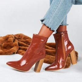Chunky Heel Side Zipper Plain Casual Ankle Boots