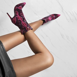 Side Zipper Round Toe Pointed Toe Sexy Ankle Boots