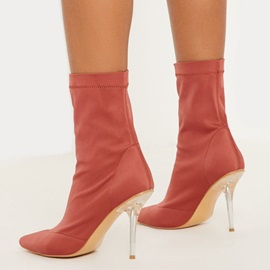 Slip-On Pointed Toe Plain Casual Boots
