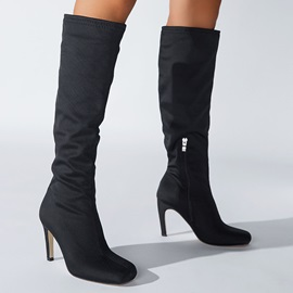 Square Toe Side  Plain Western Boots