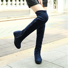 Modern Solid Color Knee-high Boots