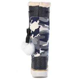 Canvas Lace-Up Warm Women's Knee High Boots